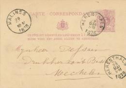 Entier Postal Lion Couché HERENTHALS 1878 - Au Verso VIGNETTE Boekhandelaar Du Moulin ( Acceptée Par La Poste) - XX473 - Entiers Postaux