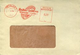 8958 Germany , Red Meter Freistempel EMA,1964 Wetzlar , Pneumatik,tyre,pneumatique, Reifen, Circuled Cover - [7] West-Duitsland