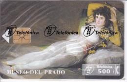 P-147 TARJETA DE ESPAÑA DE LA MAJA VESTIDA  DE GOYA DE TIRADA 9100 (NUEVA-MINT) - Pintura
