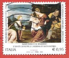 ITALIA REPUBBLICA USATO - 2015 - Natale Religioso Madonna Col Bambino E Santi - Polidoro Di Lanciano - € 0,95 - S. ---- - 2011-...: Usati