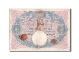 France, 50 Francs Bleu Et Rose, 12.03.1921, KM:64f - 1871-1952 Antichi Franchi Circolanti Nel XX Secolo