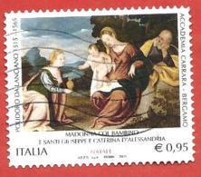 ITALIA REPUBBLICA USATO - 2015 - Natale Religioso Madonna Col Bambino E Santi - Polidoro Di Lanciano - € 0,95 - S. ---- - 2011-...: Afgestempeld