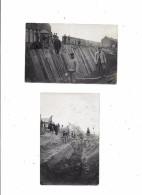 2 Carte Photo à Localiser : Travaux Terrassement - Cartes Postales