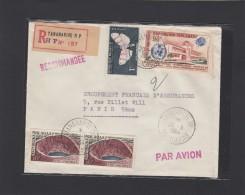 MADAGASCAR:LETTRE RECO. POUR PARIS,1964. - Madagascar (1960-...)
