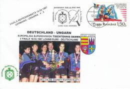 TABLE TENNIS-PING PONG-TISCHTENNIS-TENNIS TAVOLO-TENNIS DE TABLE, Romania-Rumänien, Special Cover / Cancellation !! - Table Tennis