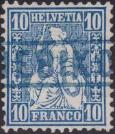 Heimat LU NEBIKON (blau) Langstempel Im Kasten Auf Zu#31 Blau Sitzende Helvetia (Stempel Selten In Blau) - Oblitérés