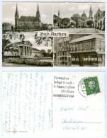 AK Aachen Aken Aix-la-Chapelle Postwagen Stempel Schwarzsehen Bringt Verdruß Bad Rathaus Dom Kurhaus Nordrhein-Westfalen - Aachen