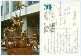 AK Aachen Aken Aix-la-Chapelle Puppenbrunnen 12. 5. 1977 Stempel Würselen Brunnen Nordrhein-Westfalen Deutschland NRW - Aachen