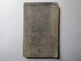 Carnet De Bord - 2e Lieutenant - SS. Arijon - SS. Châteauroux Et Ville De Srasbourg - - Boten