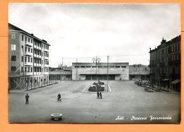 MAI188, Asti, Stazione Ferroviaaria, Gare, Bahnhof,  GF,  Circulée 1951 - Asti