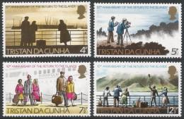Tristan Da Cunha. 1973 10th Anniv Of Return To Tristan Da Cunha. MH Complete Set SG 182-185 - Tristan Da Cunha
