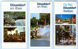 3 X Landkarte Gratis-/Werbe-Stadtplan Düsseldorf 1980er Nordrhein-Westfalen NRW Landkarten Stadtpläne Deutschland Map - Maps Of The World