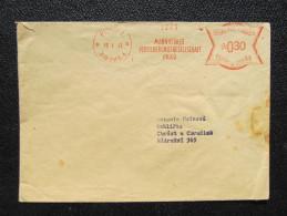 Brief Frankotype Postfreistempel Praha 1 Mannheimer 1943 // S8445 - Böhmen Und Mähren