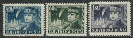 Slovakia  1939  Sc#34-6  Stefanik  MH*   2016 Scott Value $3.30 - Ungebraucht