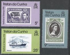 Tristan Da Cunha. 1976 Festival Of Stamps, London. MH Complete Set SG 204-206 - Tristan Da Cunha