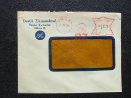 Brief Frankotype Postfreistempel Praha 1 BZ Mogul Oil 1934 // S8455 - Tschechoslowakei/CSSR