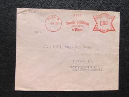 Brief Frankotype Postfreistempel Praha 3 Narodni Pojistovna 1933 // S8459 - Briefe U. Dokumente