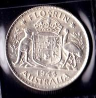 Australia 1944 Florin GVF - Monnaie Pré-décimale (1910-1965)