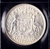 Australia 1942 Florin EF - Monnaie Pré-décimale (1910-1965)