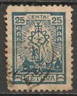 Timbres - Lituanie - 1923 - 25 C. - - Lituanie