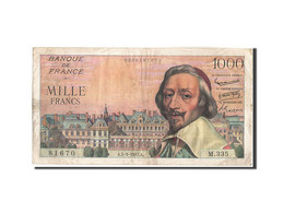 France, 1000 Francs, 1 000 F 1953-1957 ''Richelieu'', 1957, 1957-09-05, KM:13... - 1871-1952 Circulated During XXth