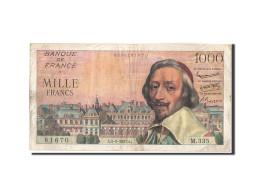France, 1000 Francs, 1 000 F 1953-1957 ''Richelieu'', 1957, 1957-09-05, KM:13... - 1871-1952 Anciens Francs Circulés Au XXème