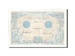 France, 20 Francs, 20 F 1905-1913 ''Bleu'', 1912, 1912-04-27, KM:68b, SPL+, F... - 1871-1952 Circulated During XXth