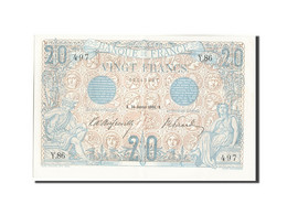 France, 20 Francs, 20 F 1905-1913 ''Bleu'', 1906, 1906-01-26, KM:68a, SPL+, F... - 1871-1952 Gedurende De XXste In Omloop
