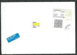 GREAT BRITAIN 2016 Air Mail Cover To Estonia Queen Elizabeth Label - 1952-.... (Elizabeth II)