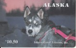 ALASKA(chip) - Alaskan Sled Dogs/Rare Eyes($10.50), Tirage 1500, 12/95, Mint - Phonecards