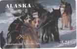 ALASKA(chip) - Alaskan Sled Dogs/Mates($5.25), Tirage 1500, 12/95, Mint - Phonecards