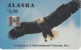 ALASKA - Alaskan Bald Eagle(complimentry), Tirage 6000, 03/94, Mint - Phonecards