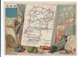 Départements De France/Image Pédagogique/AISNE/ Laon/Vers 1880-1890    CRD2 - Trade Cards