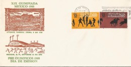 J) 1968 MEXICO, XIX OLYMPIC GAMES, MEXICO'68, SPORTS, ATHENS GREECE, SPORTS PALACE,  PRE OLYMPICS, HORSE RACE, VOLLEYBAL - Messico