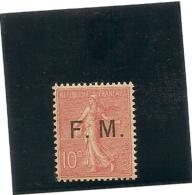 France Timbre De Franchise N° 4 Sans Charniére** Luxe , Trés Bon Centrage - Franchise Militaire (timbres)