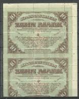 LATVIA Lettland 1921 Michel 66 Z In 20-Block MNH - Lettonie