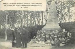 - Ref- L277- Sarthe - Conlie - Monument E Du Camp En Souvenir De L Armee De Bretagne - Guerre 1970-71 - - Conlie