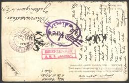 AUSTRIA - BRIEFZENSUR  S.M.S. ALFHA  - MARINEFELDPOST POLA M. - K.u.K.  WAR SHIPS - 1916 - DAR - 1850-1918 Imperium