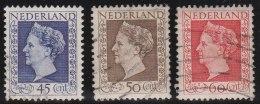 Nederland       NVPH    487/489              O                 Gebruikt  /  Cancelled - Oblitérés