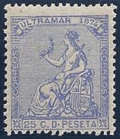 ESPAÑA/CUBA 1874 - Edifil #28 - MNH ** - Cuba (1874-1898)