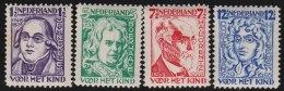 Nederland       NVPH     220/223                 *                       Ongebruikt  /  Mint-hinged - Period 1891-1948 (Wilhelmina)