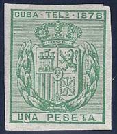 ESPAÑA/CUBA 1878 - Edifil #43s - MLH * - Cuba (1874-1898)