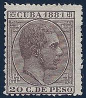 ESPAÑA/CUBA 1881 - Edifil #67 - MLH * - Kuba (1874-1898)