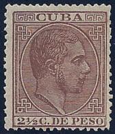 ESPAÑA/CUBA 1883/88 - Edifil #99 - MLH * - Cuba (1874-1898)