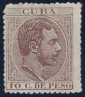 ESPAÑA- CUBA  1883/88- EDIFIL#102(*) - Cuba (1874-1898)