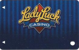 Lady Luck Casino Las Vegas, NV - Slot Card - Copyright 2009  (BLANK) - Casino Cards