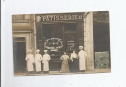 PARIS (75) SUPERBE CARTE PHOTO ANIMEE DE LA PATISSERIE PERRETTE ANC MAISON PELLETIER 37 AVENUE DE MALAKOFF 16 E ARR - District 16