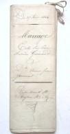 CONTRAT DE MARIAGE AOUT 1844 CHARENTE INFERIEURE . PAPIER PARCHEMIN - Manuscripts