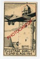 GÖRLITZ-Flugtage-1924-Dessin-Junkers-Avion-Philatelie-Stempel-Fliegerei-Luftfahrt-DEUTSCHLAND- - 1919-1938: Entre Guerres