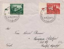 Deutsches Reich 1940 - 2 Fach Frankierung Auf Brief Gel.v.Eupen > Tumpen Post Ötz - Alemania